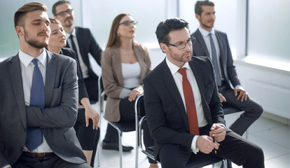 business team at a business meeting