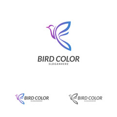 Bird logo vector. Flying Bird Logo design vector template. Dove Pigeon Logotype concept icon.