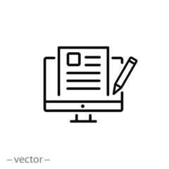 blogging icon vector
