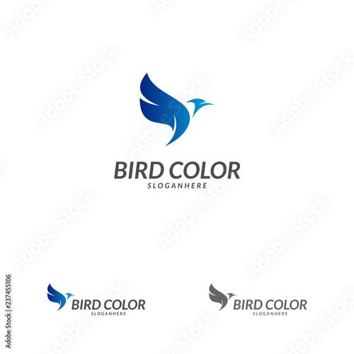 bird logo vector flying bird logo design vector template dove