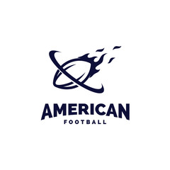 Modern professional american football logo for sport team
