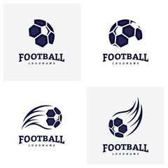 Set of Soccer Football Badge Logo Design Templates. Sport Team Identity Vector Illustration