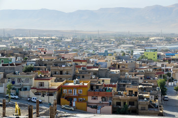 Sulaymaniyah city from the top, IRAQ