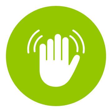 Hand wave vector icon