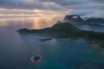 Coastal mountains, Offeroykammen, Vestvagoya, Lofoten Islands, Norway