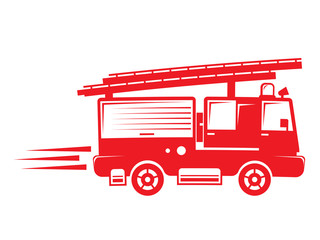 isolated firetruck illustration
