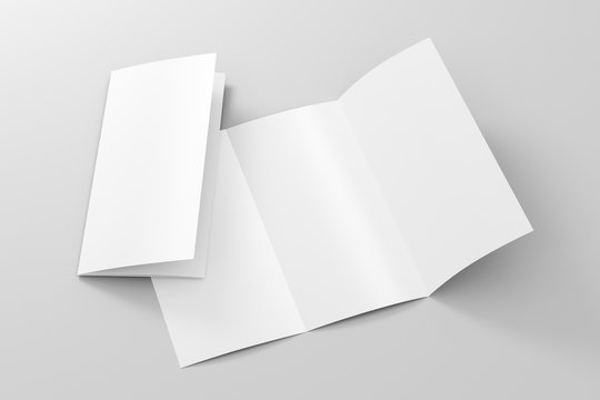 Blank trifold brochure A4 booklet