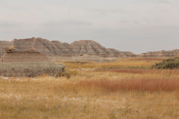 Colorful Prairie With Buttes