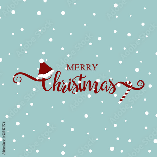 Merry Christmas Greeting Card Template Christmas Handwritten