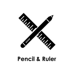 pencil, ruler icon. One of the business collection icons for websites, web design, mobile app
