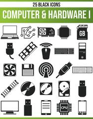 Black Icon Set Computer & Hardware I