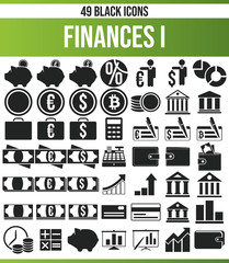 Black Icon Set Finances I
