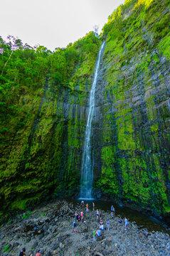Waimoku Falls on The Road to Hana, Maui, Hawaii, USA