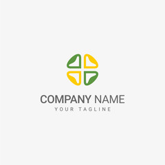 Simple Flower Logo template
