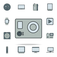 hand video camera icon. Devices icons universal set for web and mobile
