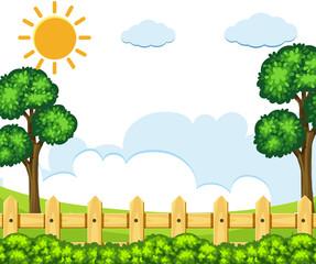 Oudoor park background scene