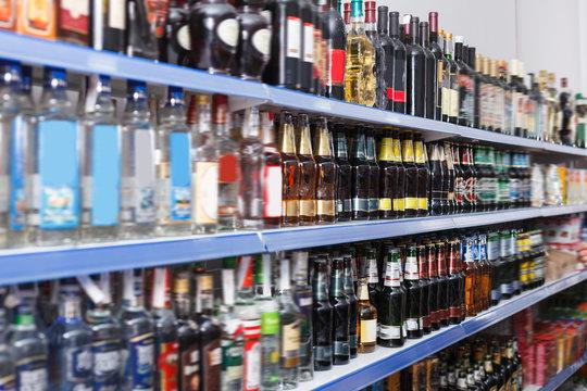 Image of diversity bottled alcohol drink
