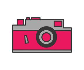 retro camera symbol isolated on white background