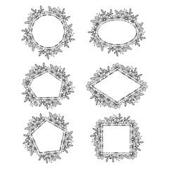 Elegant Flower Florist Wedding Frame Card Ornament Set