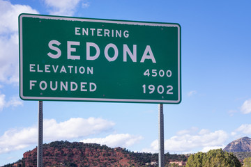 Sedona road sign welcome