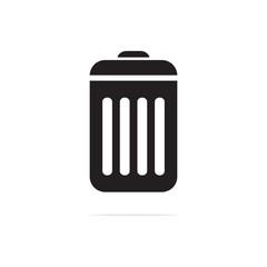 trash can icon. Vector concept illustration for design