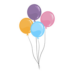 Vector cartoon balloons isolated on a white background.