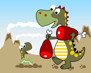 Dinosaurs family cartoon
