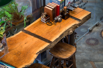 The Feelsion Cafe Phuket: September 20, 2018, the atmosphere in the coffee shop has customers continue to use. Decoration (Cake, Dessert, Coffee, Decoration) in Tambol Muang, Phuket, Thailand