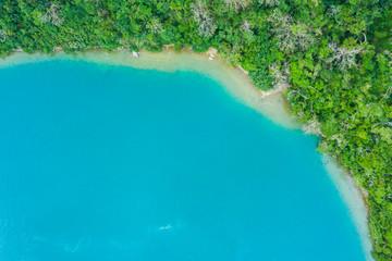 澄んだ海と自然豊かな陸地の風景