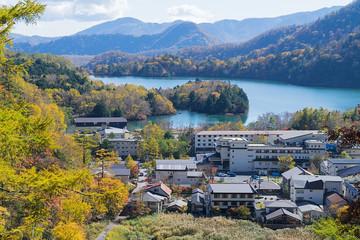Yumoto Onsen in autumn, Nikko, Japan