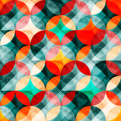 colorful abstract circles seamless pattern illustration