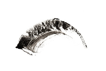 make-up cosmetic mascara brush stroke texture design isolated on white