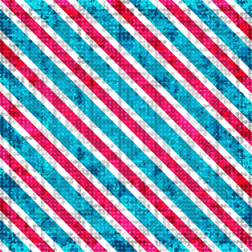 red blue and white lines. abstract geometric background illustration. grunge effect
