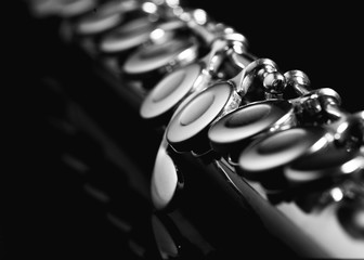 The keys of a flute