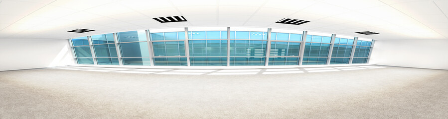 Empty Business Office Area (panoramic)