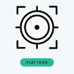 Focus vector icon