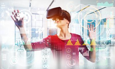 Woman and modern technologies