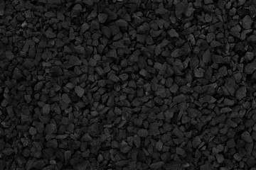 Natural stone pattern for background, black and grey stone gravel texture.