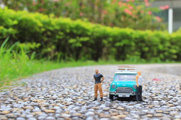 a figure with car fun of in mini world