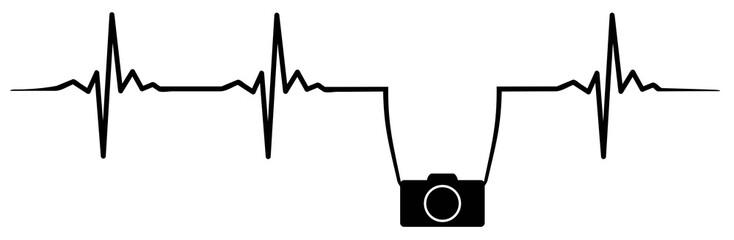 Camera heartbeat #isoliert #vektor - Kamera Herzschlag