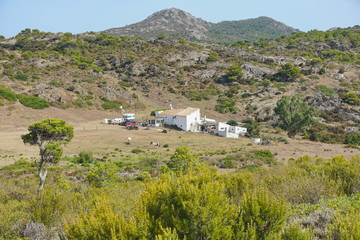 Secluded rural house in Spain in the Cap de Creus natural park, Mediterranean, El Port de la Selva, Alt Emporda, Catalonia