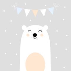holiday card with bear