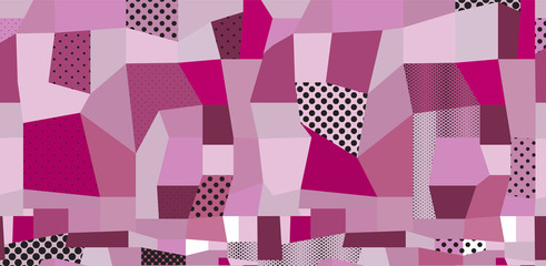 Abstract colored background from dots and geometric shapes
