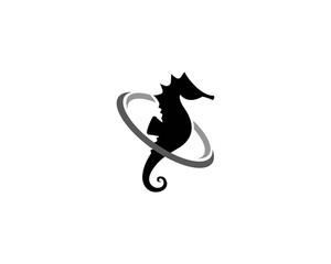 Seahorse logo template