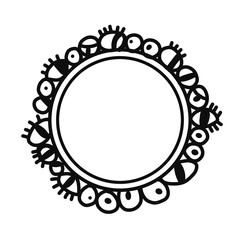 Wreath with different eyes hand drawn for beauty surreal corner project spa body care treatment salloon and face procedures