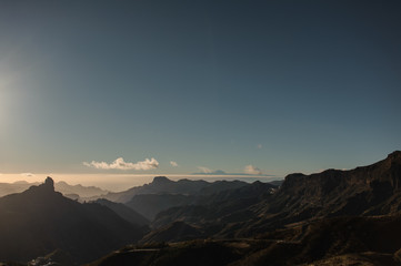 GRAN CANARIA,SPAIN - NOVEMBER 6, 2018: Beautiful landscape of the mountains