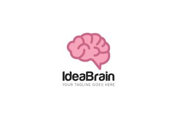 idea brain logo and icon design template Wall mural