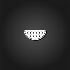 Watermelon icon flat