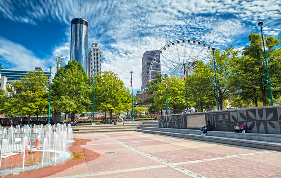 Impression of Atlanta from Olympic Centennial Park