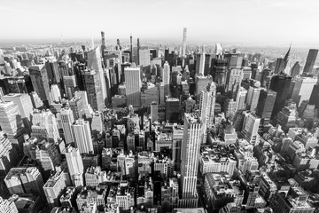 ニューヨーク マンハッタンの摩天楼 モノクロ